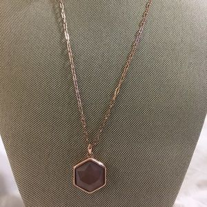Stella & Dot Smokey Quartz Locket with Chain